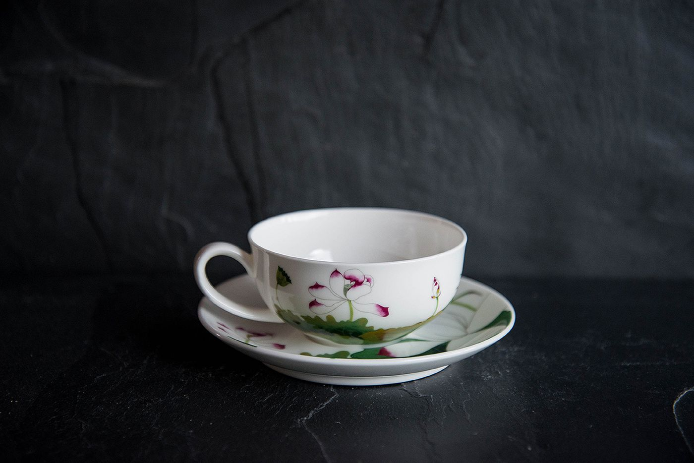 Lotus Cup and Saucer