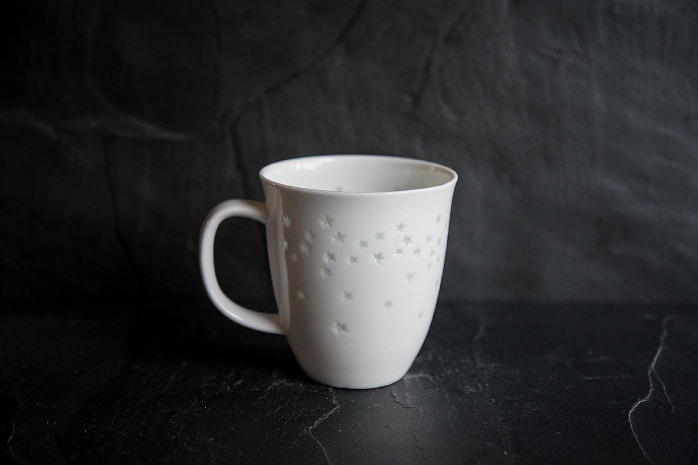 Starlight Super White Porcelain Mug