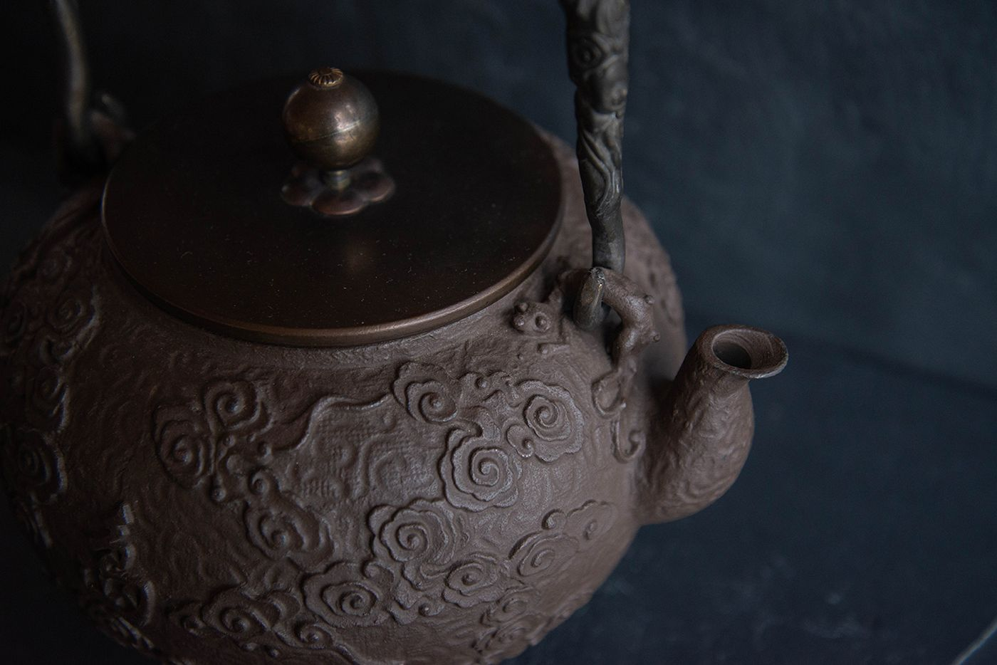 Chinese Clouds Cast Iron Kettle Teapot