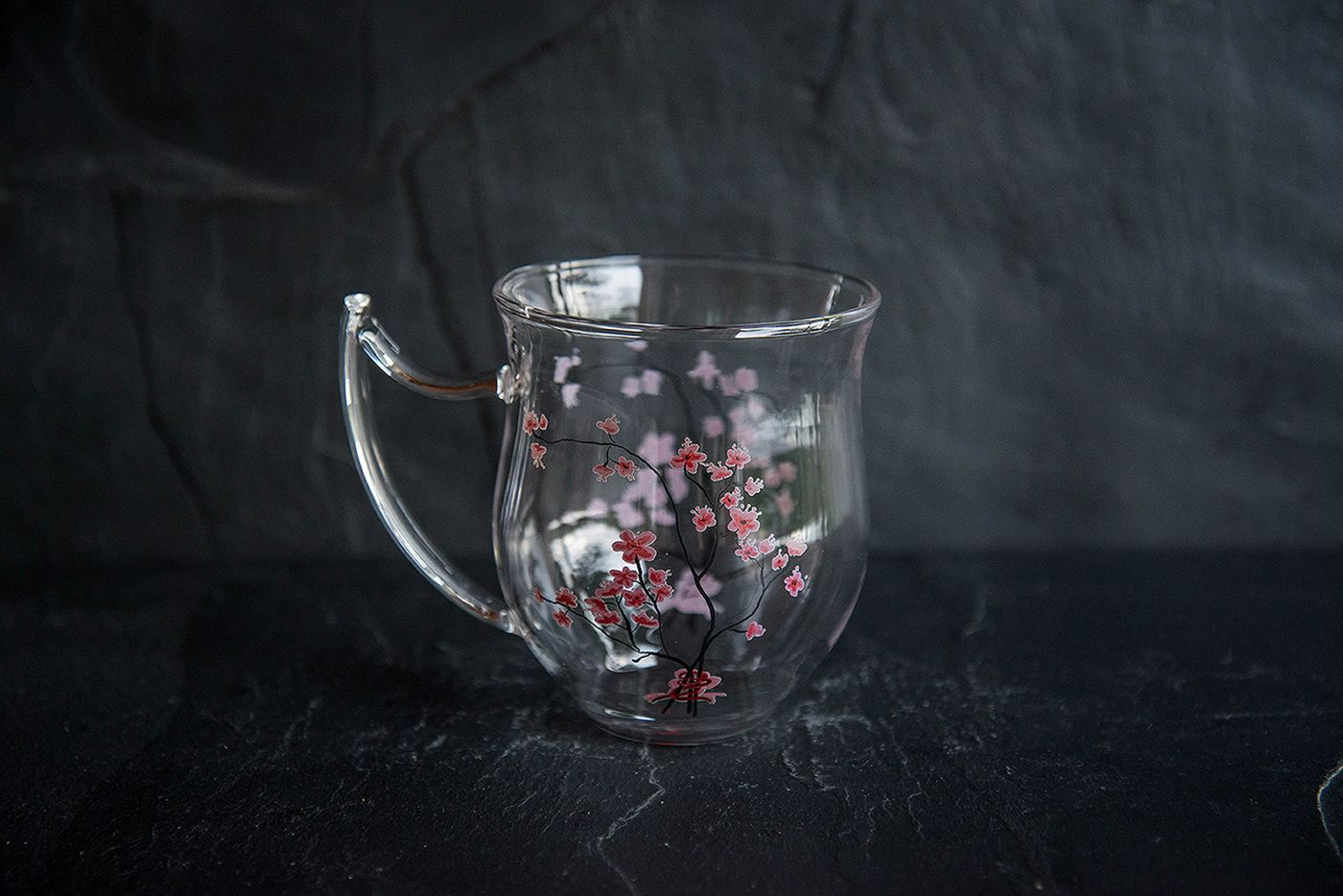 Cherry Blossom Glass Cup
