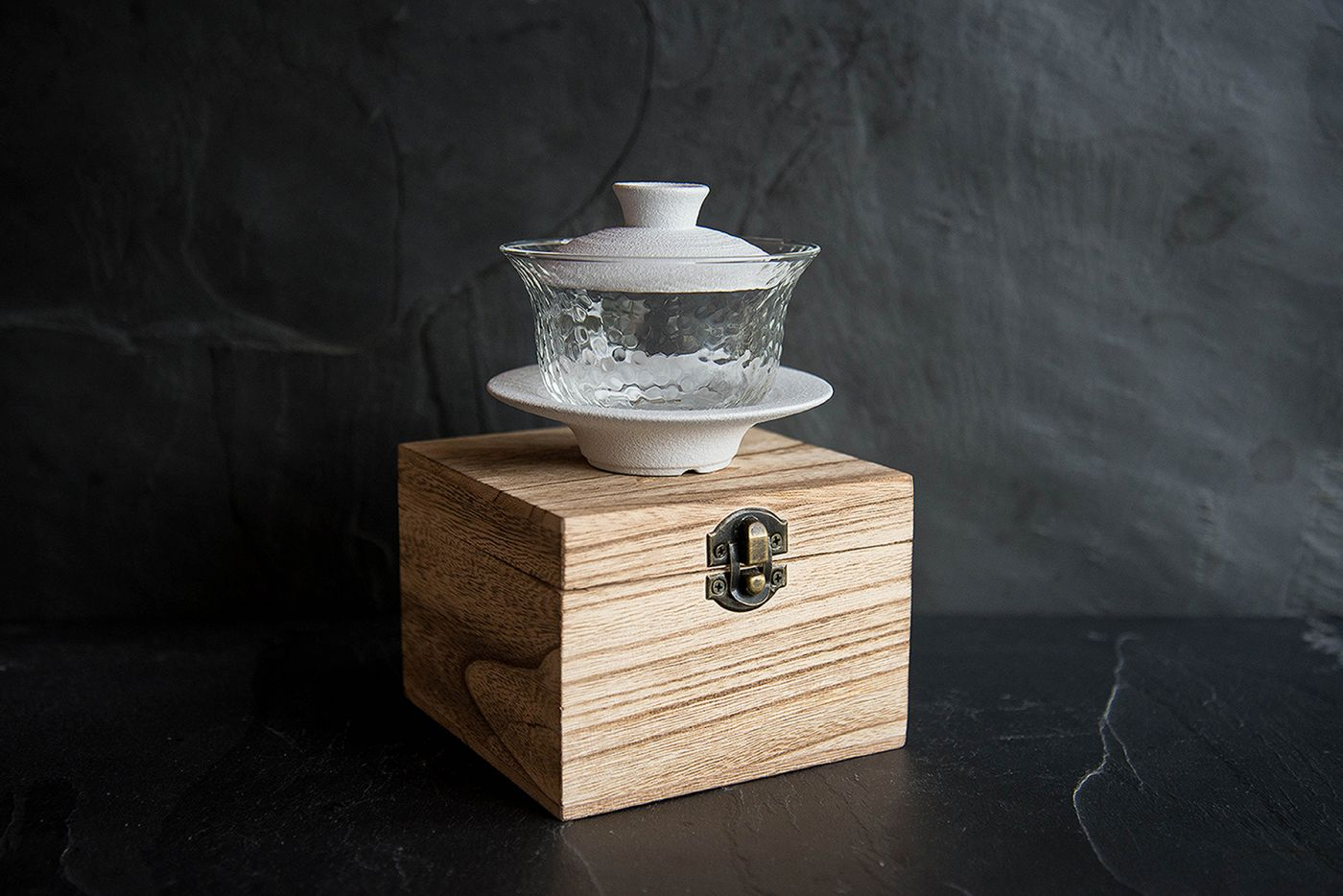 Ono White Porcelain and Glass Gaiwan