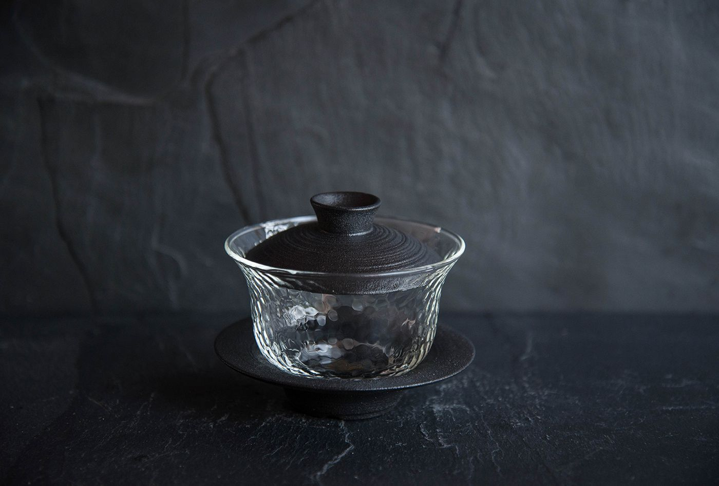 Ito Black Porcelain and Glass Gaiwan