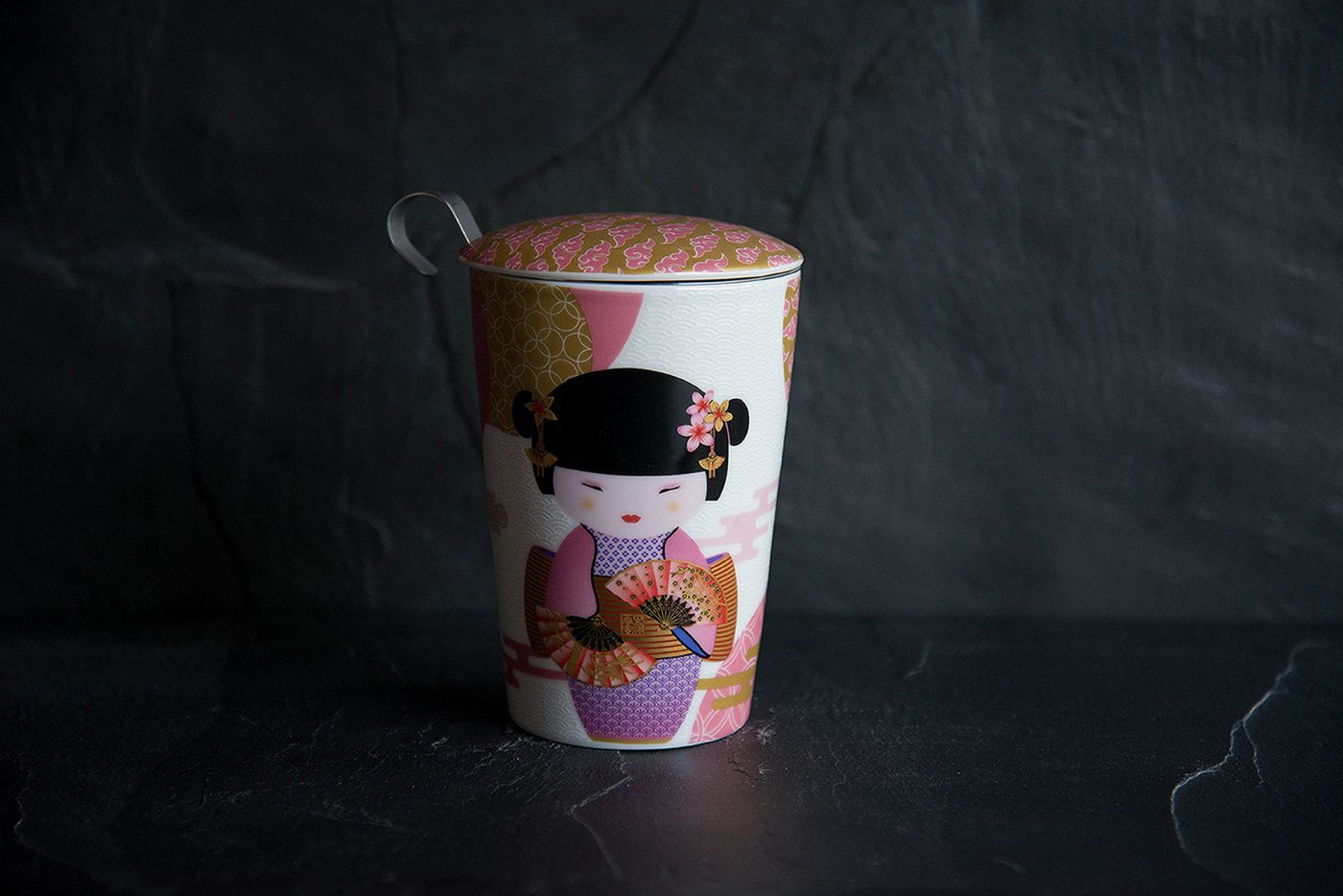 New Little Geisha Thermal Infuser Mugs Pink