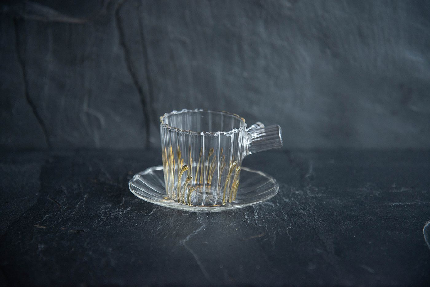Espresso Cup and Saucer Amber Grass