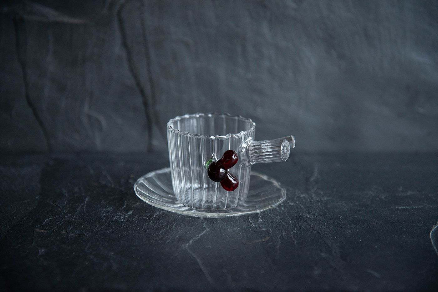 Espresso Cup and Saucer Red Berries