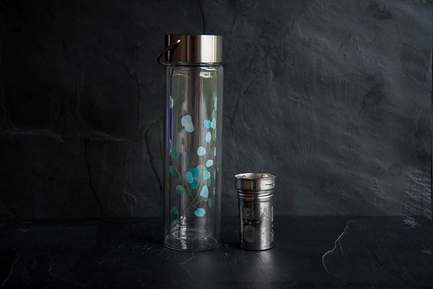 Trees Glass Infuser Flask