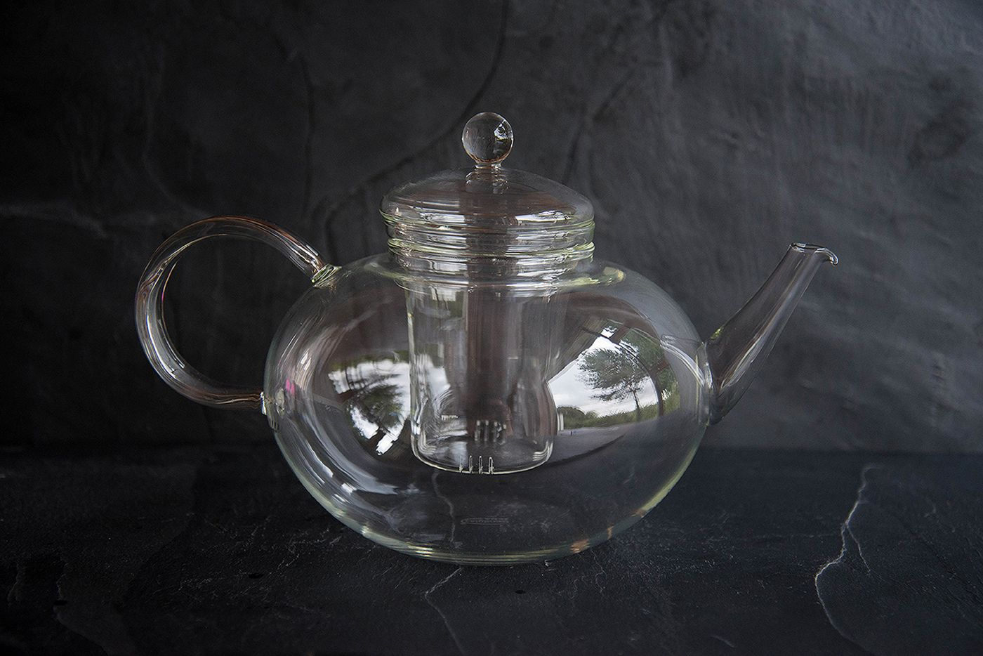 Big Thunderbolt Glass Teapot