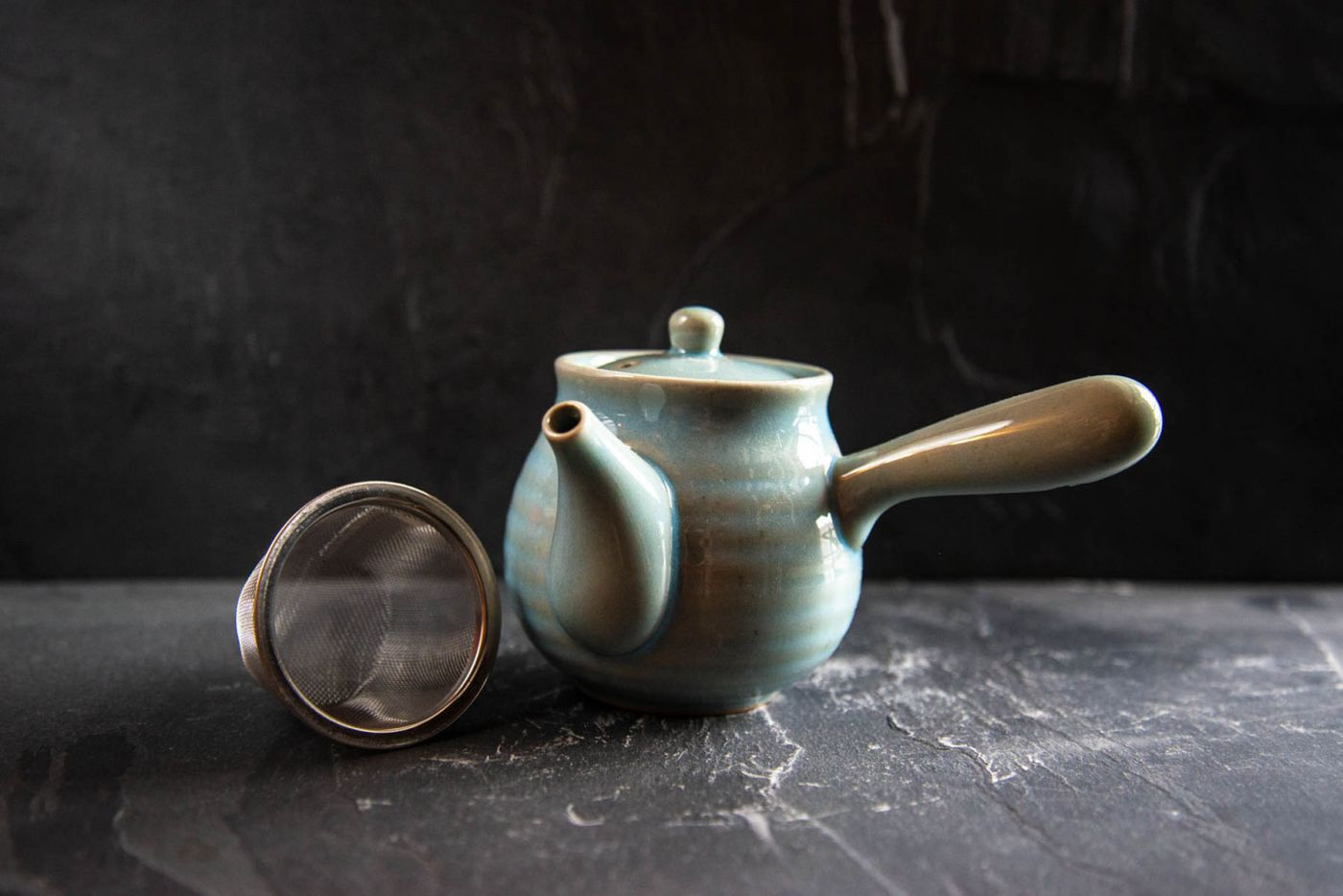 Sky Blue Honeypot Japanese Kyusu 0.25L