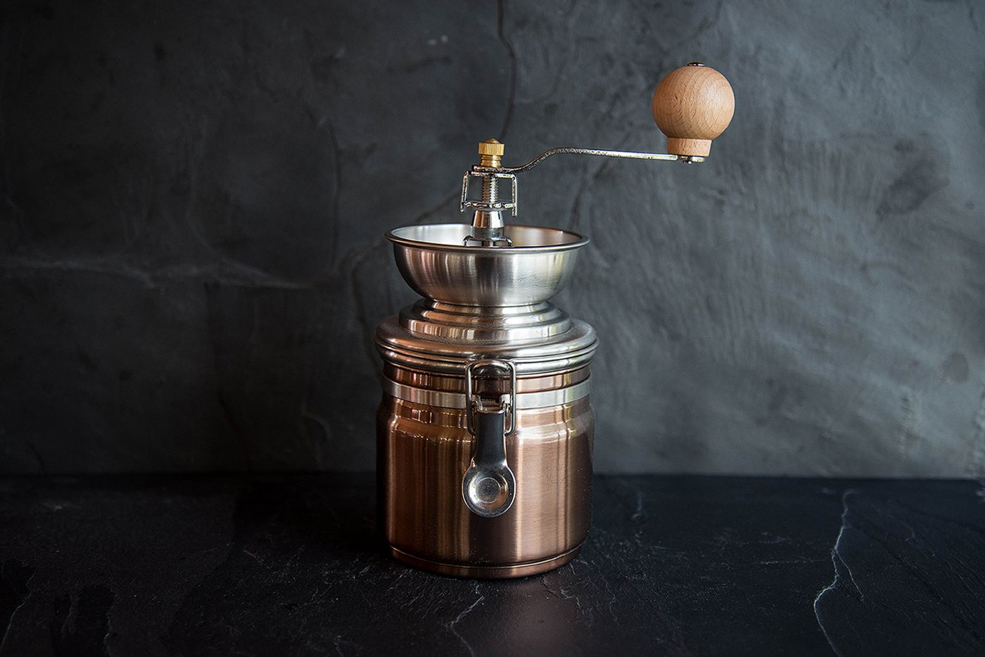 La Cafetiere Copper Coffee Grinder
