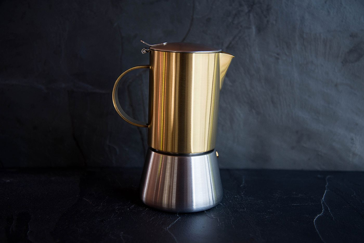 Brushed Gold Stainless Steel Stovetop Espresso Maker