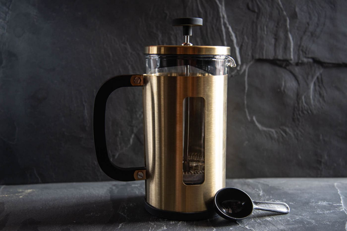 Pisa 8 Cup Cafetiere Brushed Gold