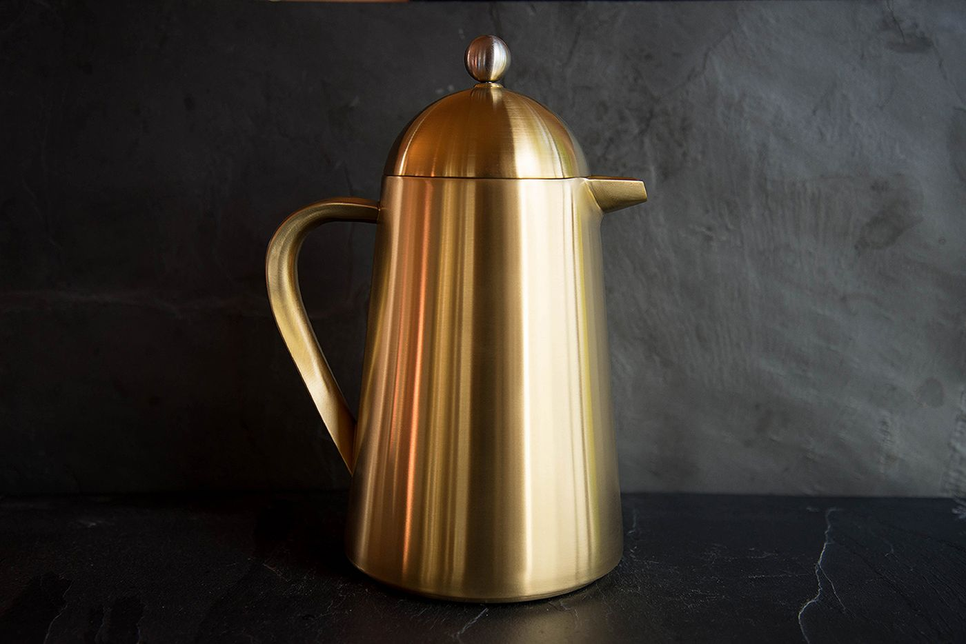 Thermique 8 Cup Brushed Gold Cafetiere