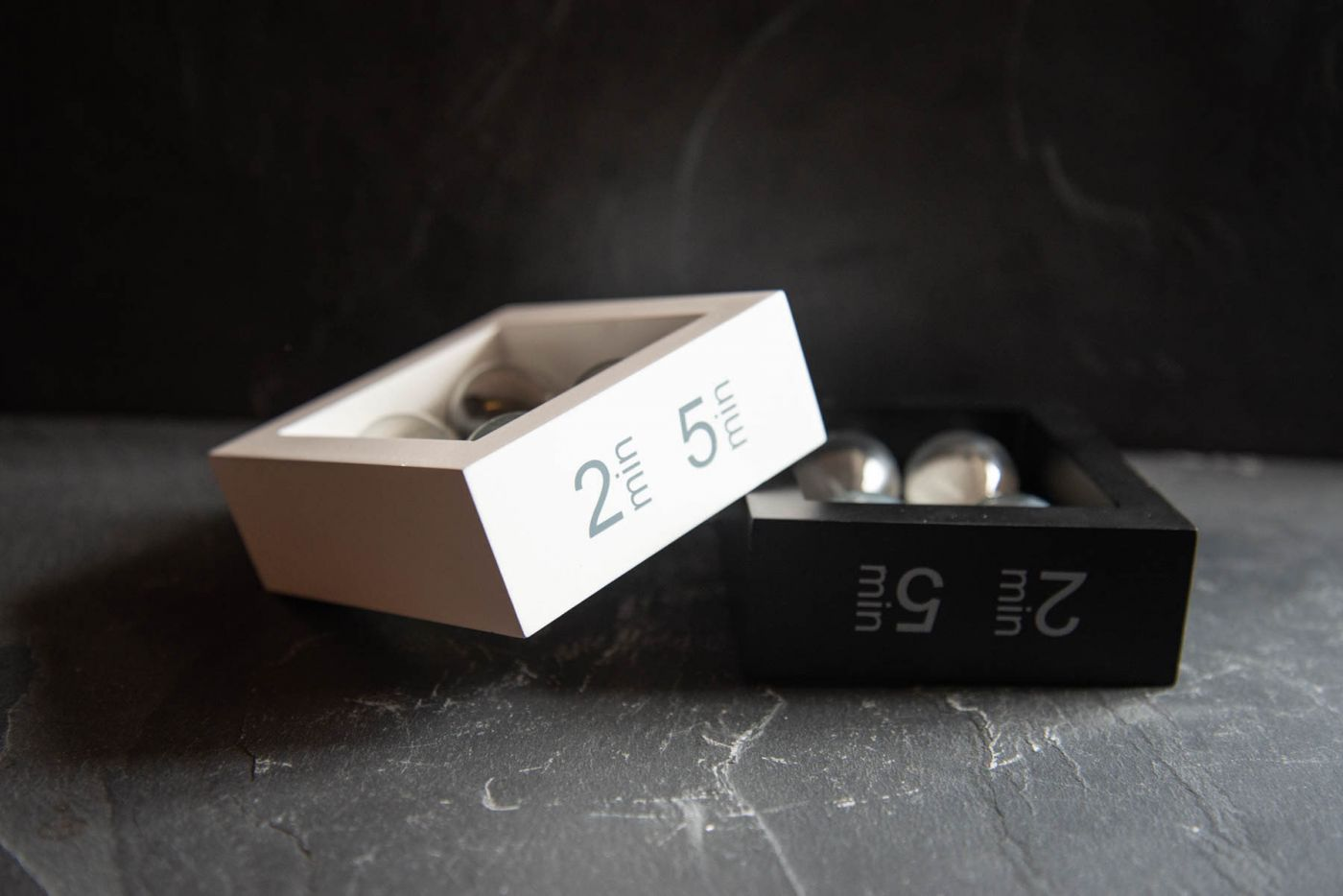 Two Time Tea Timer Black