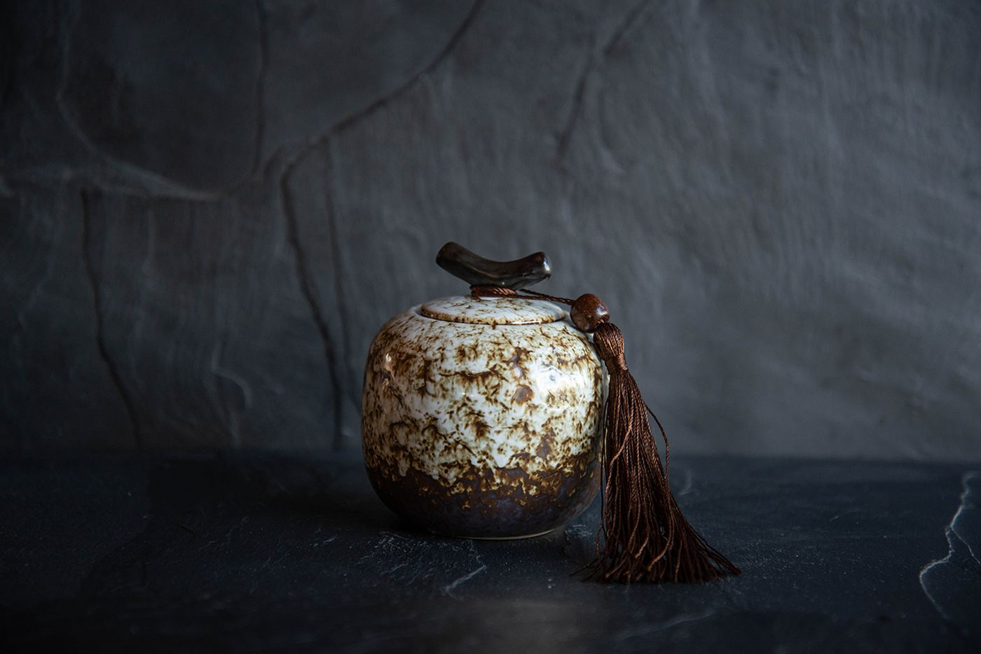 Marble Traditional Japanese Tea Caddy
