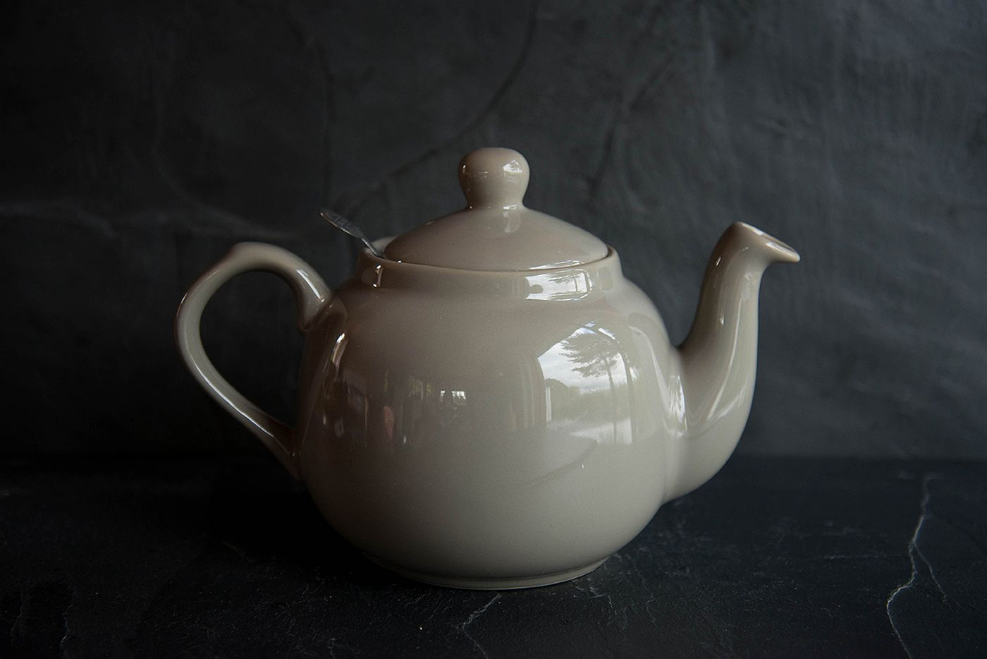 Farmhouse Grey 4 Cup Infuser Teapot