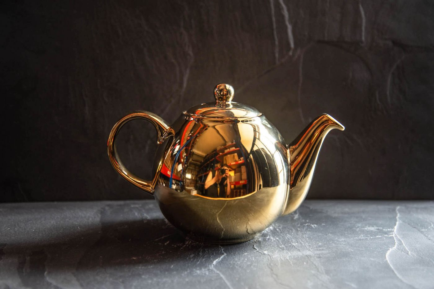 Globe Gold Infuser Teapot 4 Cup