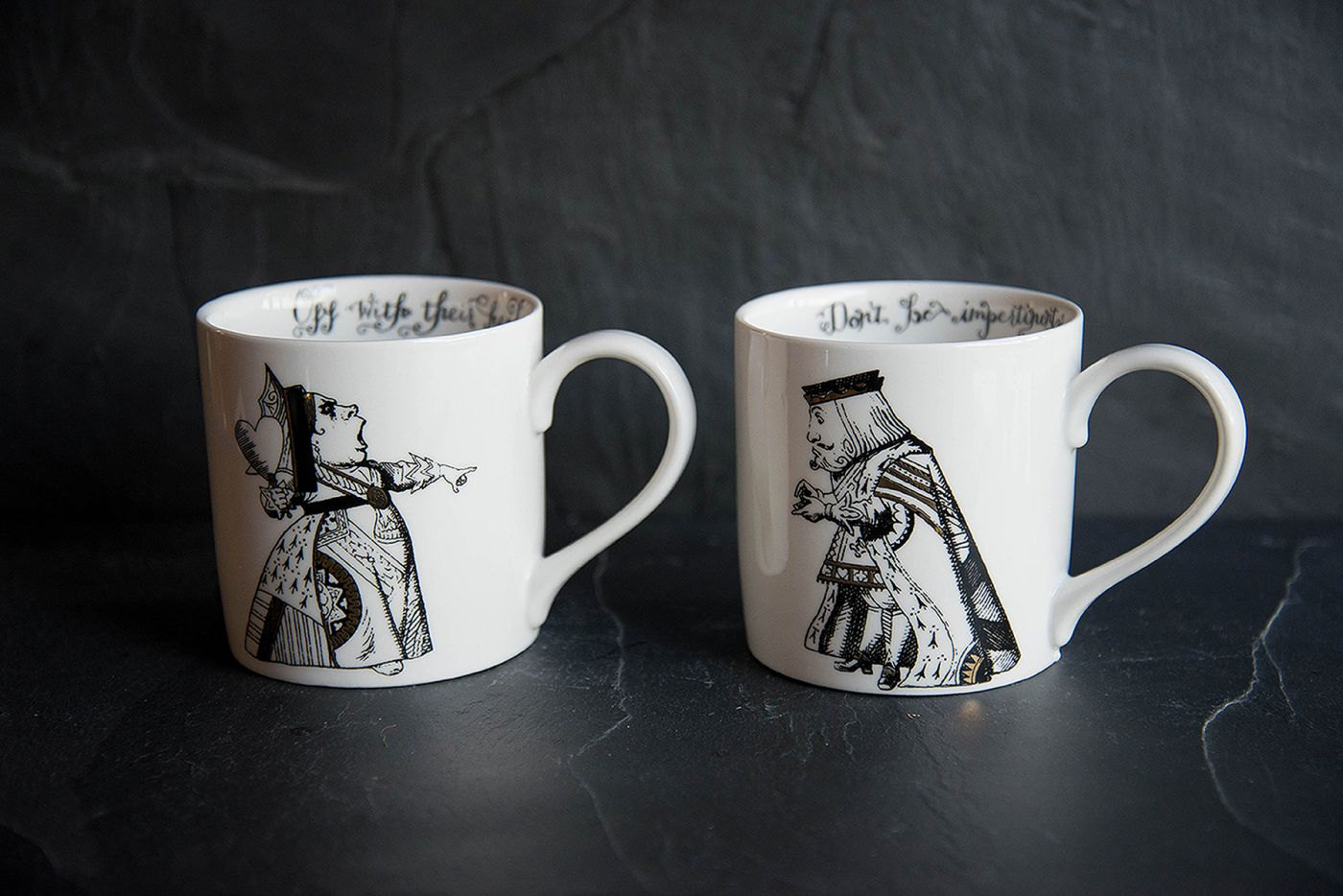 King and Queen of Hearts Mug Set V&A Alice In Wonderland