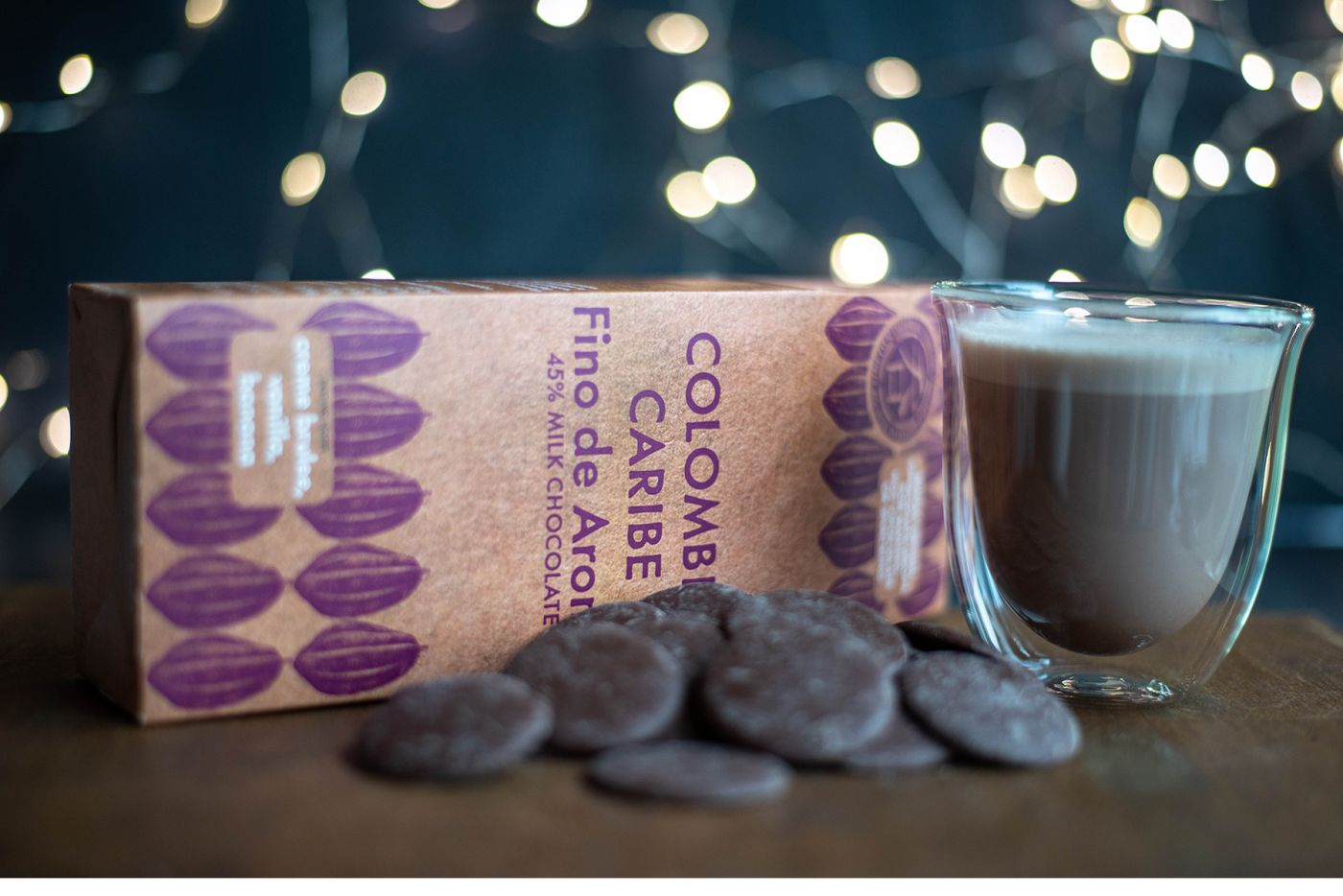 Colombia Caribe Milk Chocolate Buttons 45% 200g