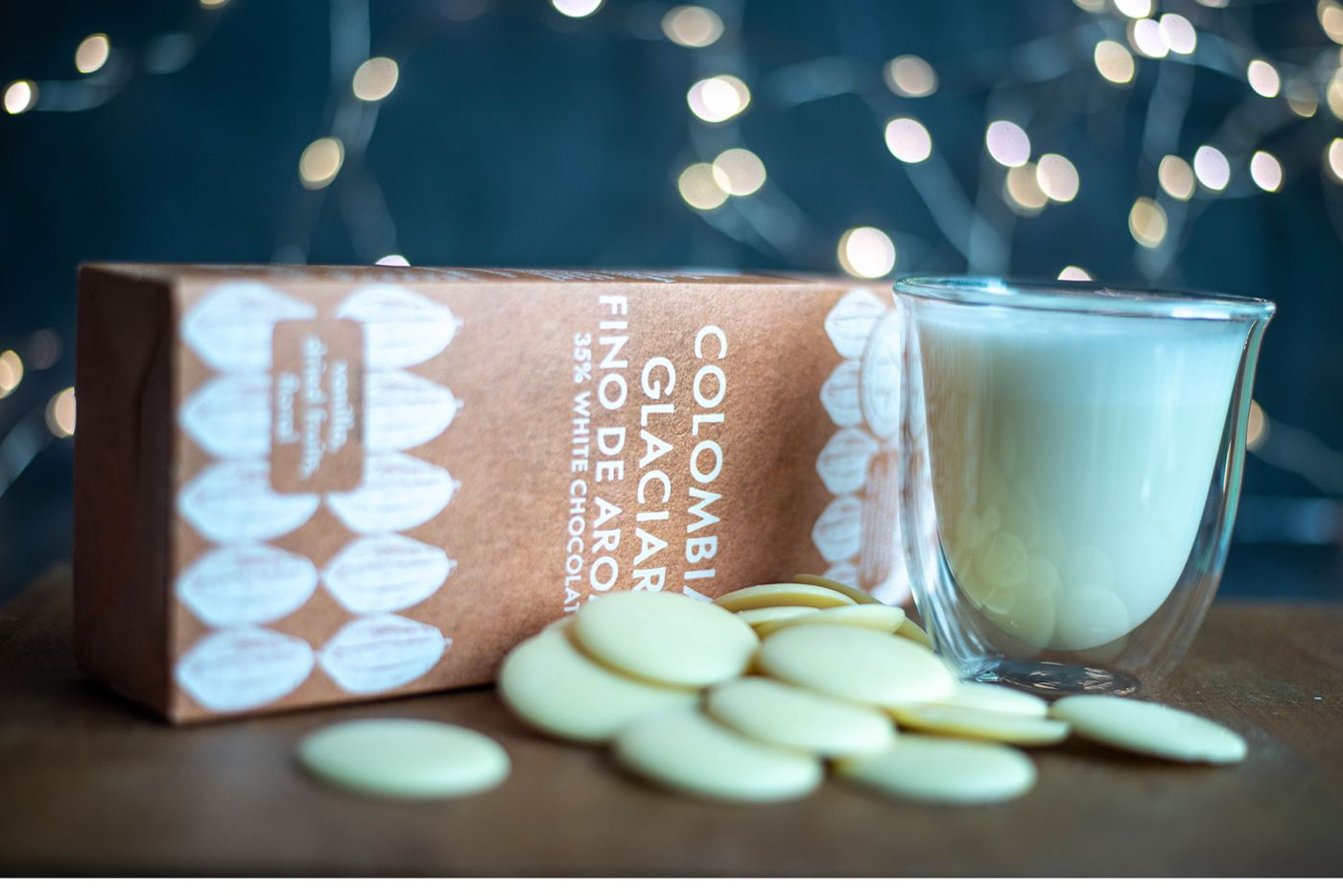 Colombia Glaciar White Chocolate Buttons 35% 200g