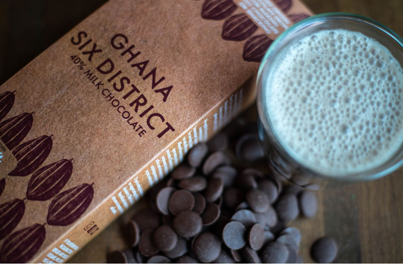 Ghana Six Districts Milk Chocolate Buttons 40% 200g