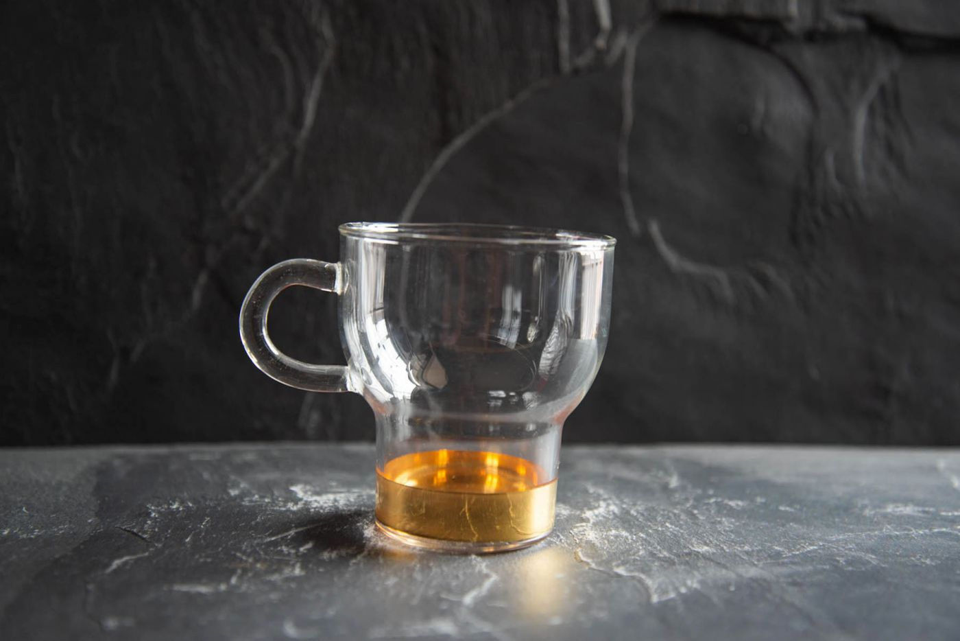 Gold Large Glass Cup 2 Pack