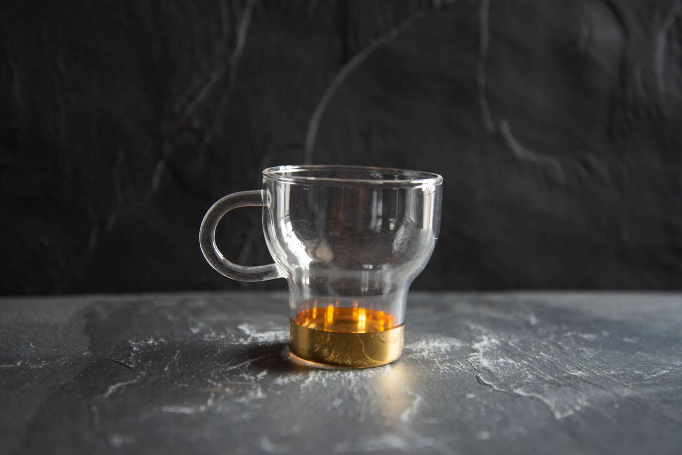Gold Small Glass Cup 2 Pack